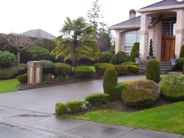Beautiful Landscaping Maintenance of Lawn and Garden Shrubs