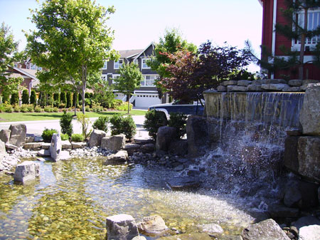 waterfall on commercial property