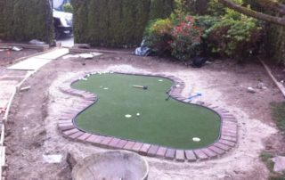 Golf Green Installation Before
