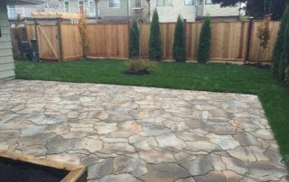 Backyard Landscaping Design-Stone Patio Installation