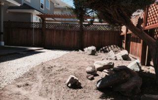 Dirt Garden Before Garden Design and Installation