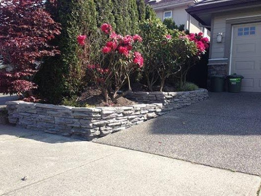 Retaining Walls around flowers and trees